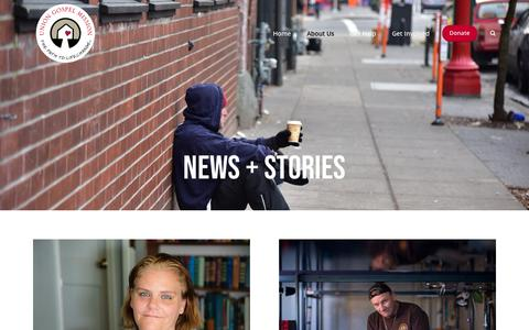 Screenshot of Press Page ugmportland.org - News + Stories — Union Gospel Mission Portland - captured Oct. 19, 2018