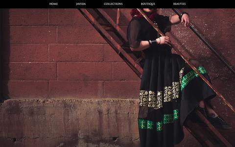 Screenshot of Home Page javeda.com - Javeda – Calgary Indian Bridal and Western Fusion Wear - captured Sept. 20, 2018