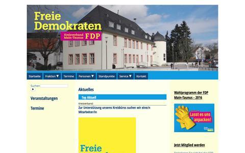 Screenshot of Home Page fdp-main-taunus.de - FDP Main-Taunus im Internet - captured June 9, 2016