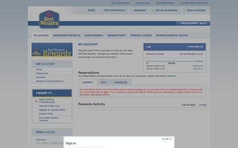 Screenshot of Login Page bestwestern.com - Bestwestern.com, the World's Biggest Hotel Family¨ - captured Nov. 24, 2015