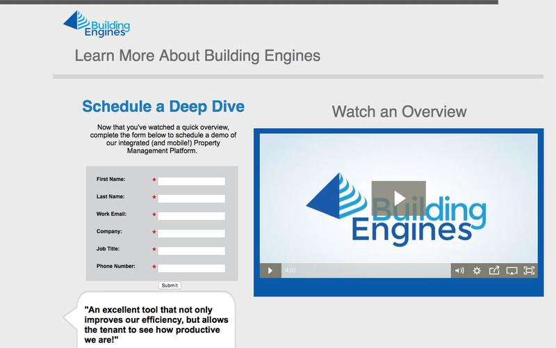 Schedule a Building Engines Product Demonstration