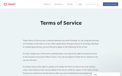 Front | Terms of service