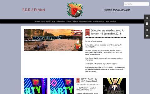 Screenshot of Home Page bde-afortiori.com - B.D.E. A Fortiori - captured Sept. 30, 2014