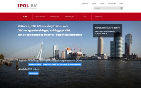 Screenshot of Home Page ipol.nl - Home - captured Oct. 4, 2014