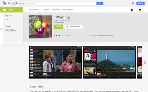 Screenshot of Android App Page google.com - TVCatchup - Android Apps on Google Play - captured Oct. 26, 2014