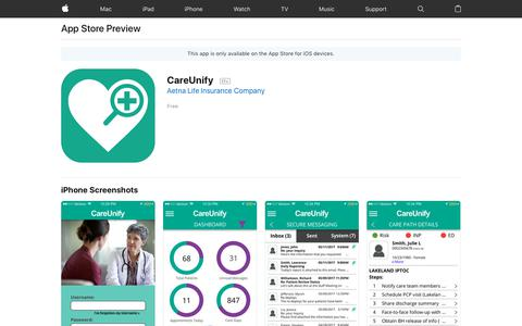 CareUnify on the AppStore