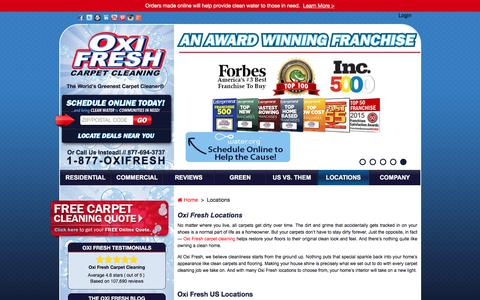 Screenshot of Locations Page oxifresh.com - Local Carpet Cleaning Companies   Oxi Fresh - captured June 14, 2017