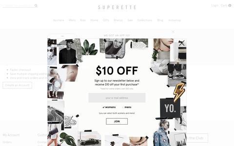 Screenshot of Login Page superette.co.nz - Customer Login  - Superette | Your Fashion Destination. - captured June 19, 2017