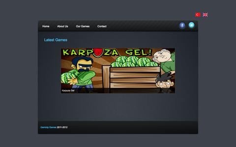 Screenshot of Home Page gamizip.com - Gamizip Games - captured Oct. 2, 2014