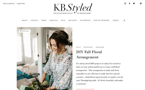 Screenshot of Home Page kbstyled.com - KBStyled | Life Styled Beautifully By Brooke Webb - captured Oct. 23, 2018