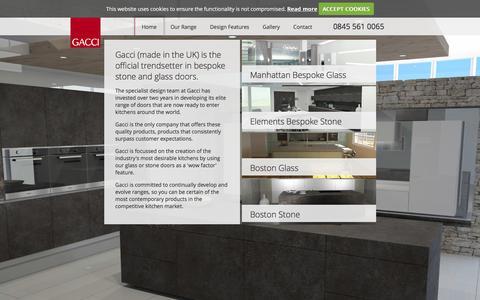 Screenshot of Home Page gacci.co.uk - Gacci - captured Jan. 25, 2016