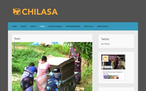 Screenshot of Team Page chilasa.org - Team - captured Jan. 27, 2016