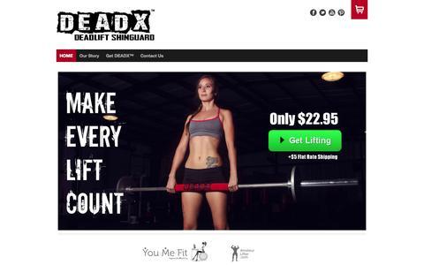 Screenshot of Home Page badkallus.com - DEADX ™ Deadlift Shinguard | BADKALLUS LLC - BADKALLUS - captured Sept. 30, 2014