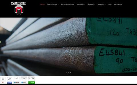 Screenshot of Home Page malthouseengineering.com - Malthouse Engineering - the UK's largest flame cutting company - captured Sept. 30, 2014