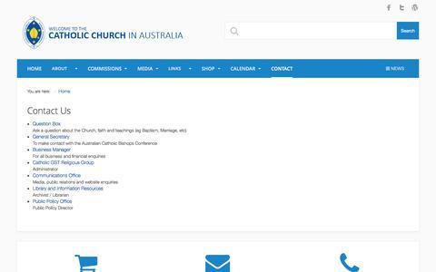 Screenshot of Contact Page catholic.org.au - Contact - Catholic Church in Australia - captured Jan. 16, 2016