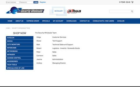 Screenshot of Team Page swl.co.nz - Security Wholesale Team - captured Nov. 18, 2016