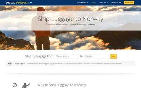 Ship Luggage to Norway | Shipping Luggage to Norway