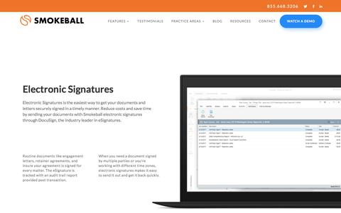 Electronic Signatures with Smokeball Practice Management Software