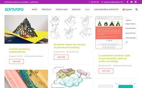 Screenshot of Blog soytutipo.com - Blog sobre publicidad online y offline - SOYTUTIPO | Agencia en Málaga - captured Oct. 1, 2018
