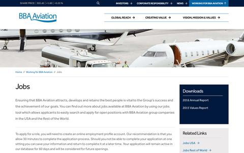 Screenshot of Jobs Page bbaaviation.com - Jobs – BBA Aviation - captured Oct. 6, 2017