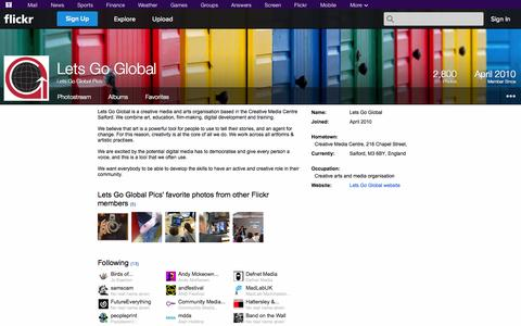 Screenshot of Flickr Page flickr.com - Flickr: Lets Go Global Pics - captured Oct. 22, 2014