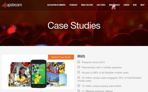 Screenshot of Case Studies Page upstreamsystems.com - Case Studies - Upstream - captured Oct. 18, 2018
