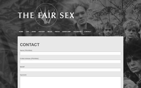 Screenshot of Contact Page thefairsex.de - THE FAIR SEX Contact | - captured June 10, 2016