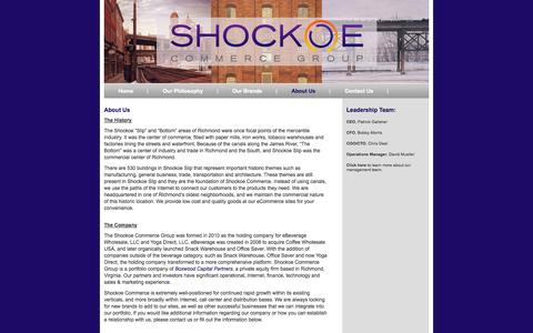 Screenshot of About Page shockoecommerce.com - Shockoe Commerce Group - captured Oct. 9, 2014