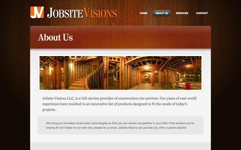 Screenshot of About Page jobsitevisions.com - Jobsite Visions  » About Us - captured Sept. 30, 2014