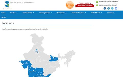 Screenshot of Locations Page 3sindia.com - Locations - - captured Nov. 17, 2016