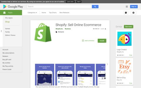 Shopify: Sell Online Ecommerce - Apps on Google Play