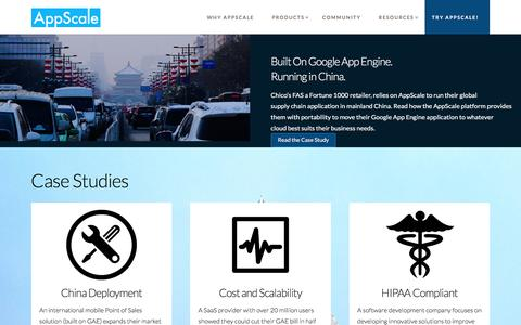 Screenshot of Case Studies Page appscale.com - AppScale Use Cases - captured Oct. 8, 2017