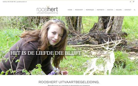 Screenshot of Home Page rooshert.nl - Rooshert | Rooshert Uitvaartbegeleiding voor begrafenissen en crematies in Amsterdam en omgeving. - captured Dec. 12, 2016