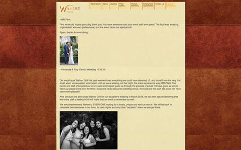 Screenshot of Testimonials Page wahoogrilldecatur.com - Testimonials - Wahoo Grill - captured Nov. 28, 2016