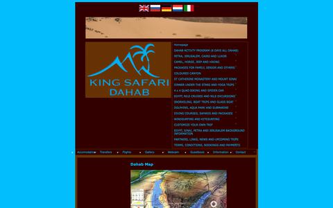 Screenshot of Maps & Directions Page king-safari.com - Dahab Map: King Safari Dahab – certified class A tour company and Dahab's famous safari office for a cheap day Excursions and packages tours. - captured Oct. 22, 2018