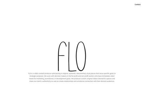 Screenshot of Home Page flocontent.com - New Home ~ fLO Content - captured Nov. 14, 2018
