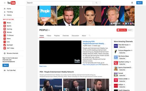 Screenshot of Team Page youtube.com - PEOPLE  - YouTube - captured Dec. 28, 2016