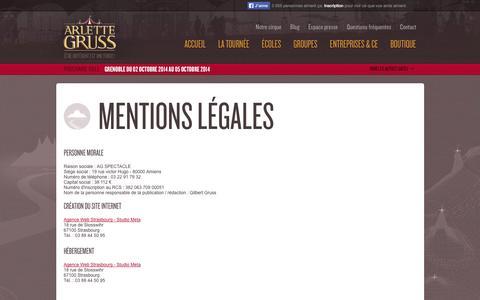 Screenshot of Terms Page cirque-gruss.com - Cirque Arlette Gruss - captured Oct. 2, 2014