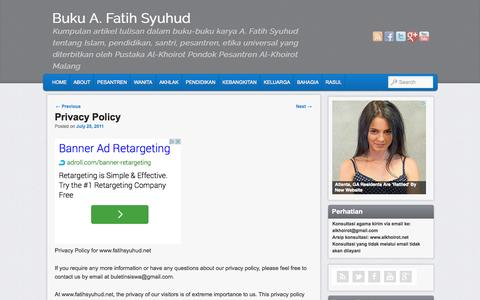 Screenshot of Privacy Page fatihsyuhud.net - Privacy Policy - captured Sept. 19, 2014