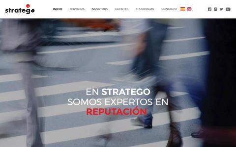 Screenshot of Home Page stratego.com.pa - Stratego – Reputación, Comunicación Estratégica & Sostenibilidad - captured Dec. 16, 2016