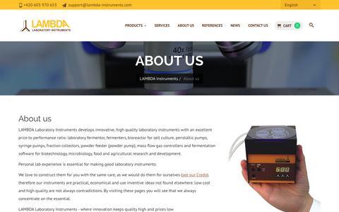 Screenshot of About Page lambda-instruments.com - About us | LAMBDA - captured Feb. 26, 2018