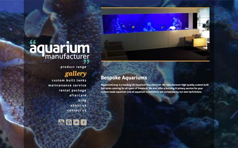 Screenshot of Home Page aquariumgroup.co.uk - Aquarium Manufacturer | Custom Built Aquariums & Fish Tanks | AquariumGroup - captured Sept. 30, 2014