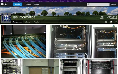 Screenshot of Flickr Page flickr.com - Flickr: Isis Informatica's Photostream - captured Oct. 23, 2014