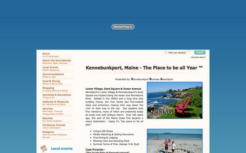 Screenshot of Home Page kennebunkport.org - Kennebunkport, Maine - The Place to be all Year ™ - Kennebunkport Maine, Community Website Kennebunkports, complete directory - captured April 25, 2017