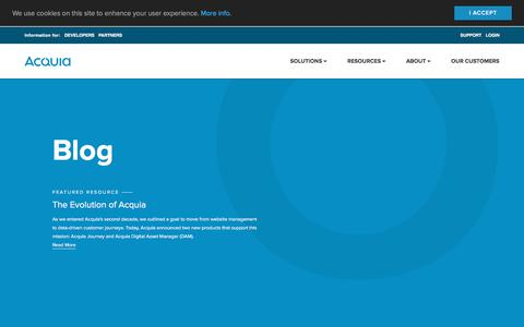 Screenshot of Blog acquia.com - Blog | Acquia - captured Dec. 14, 2017