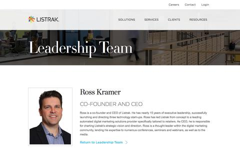 Ross Kramer   Leadership Team   Listrak