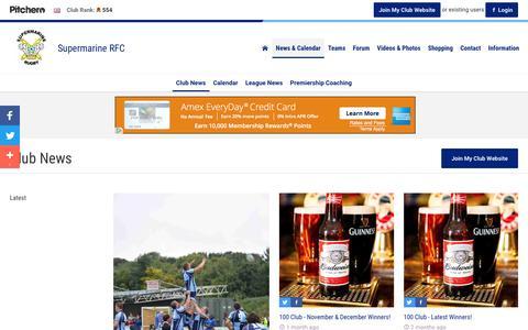 Screenshot of Press Page pitchero.com - News - Supermarine RFC - captured Jan. 21, 2017