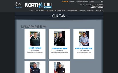 Screenshot of Team Page northhillmazda.com - Meet our team | North Hill Mazda in Calgary, Alberta - captured Oct. 26, 2017
