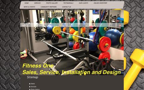 Screenshot of Site Map Page fitnessoneservice.com - Fitness One - Home - captured Oct. 10, 2018