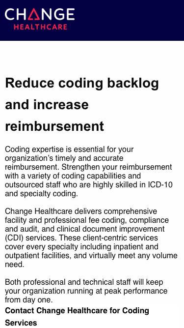 Change Healthcare   Inspiring a Better Healthcare System
